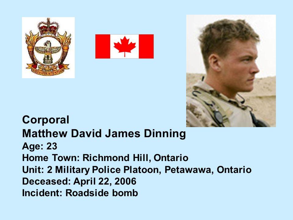 Matthew David James Dinning
