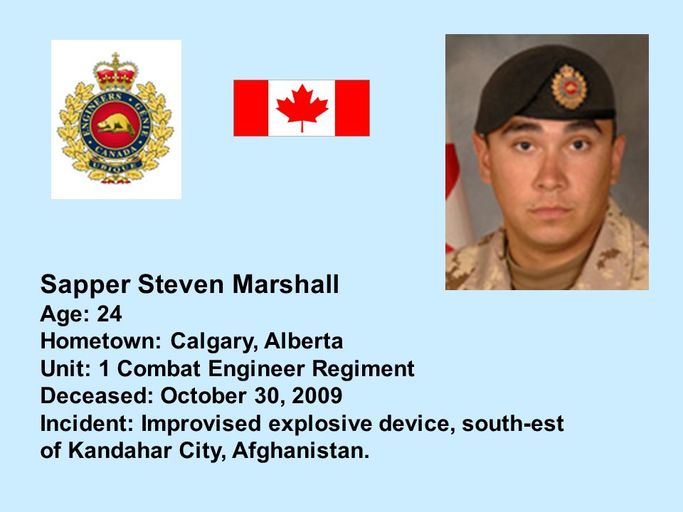 Sapper Steven Marshall