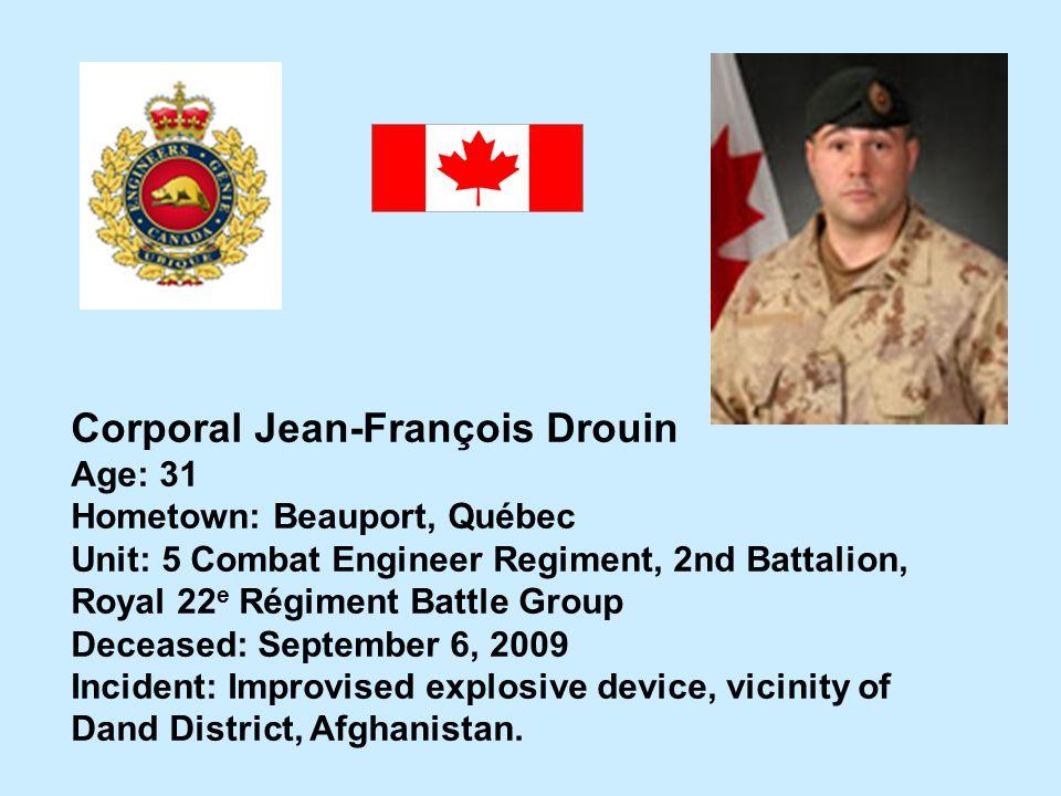 Corporal Jean-François Drouin