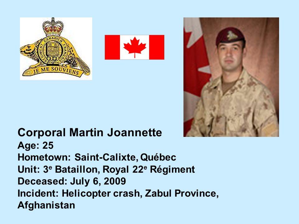 Corporal Martin Joannette