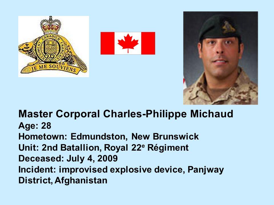 Master Corporal Charles-Philippe Michaud