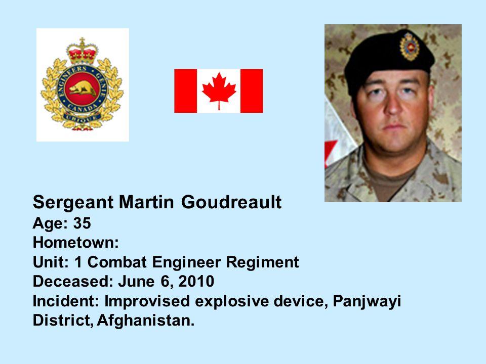 Sergeant Martin Goudreault