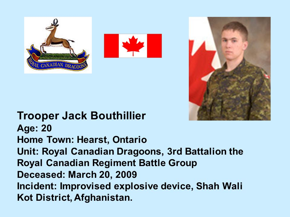 Trooper Jack Bouthillier