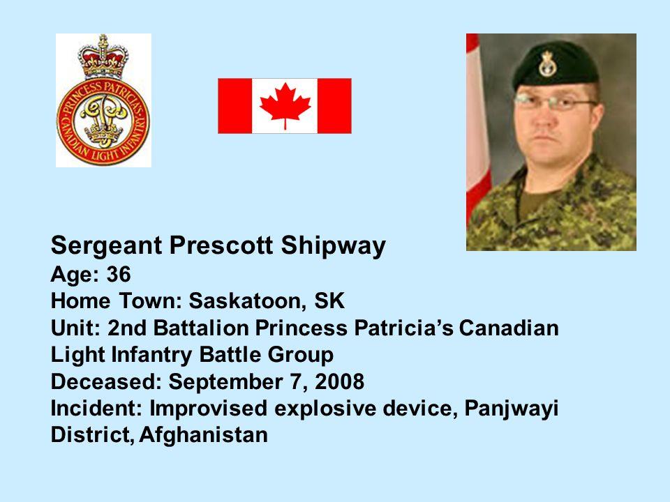 Sergeant Prescott Shipway