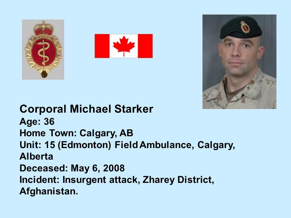 Corporal Michael Starker