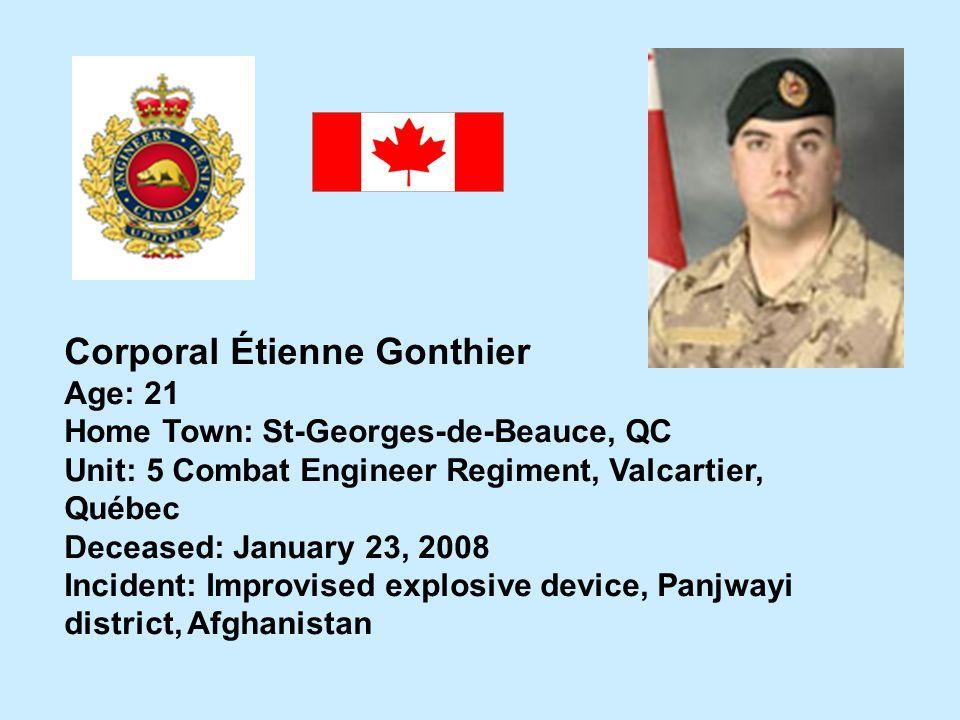 Corporal Étienne Gonthier