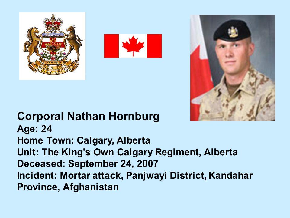 Corporal Nathan Hornburg