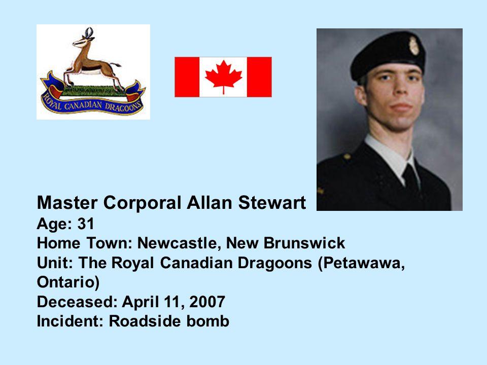 Master Corporal Allan Stewart