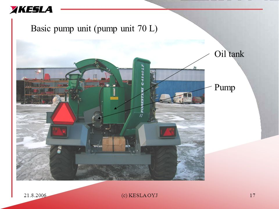 Basic pump unit (pump unit 70 L)