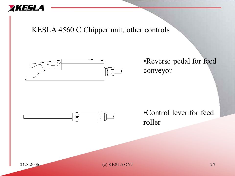 KESLA 4560 C Chipper unit, other controls