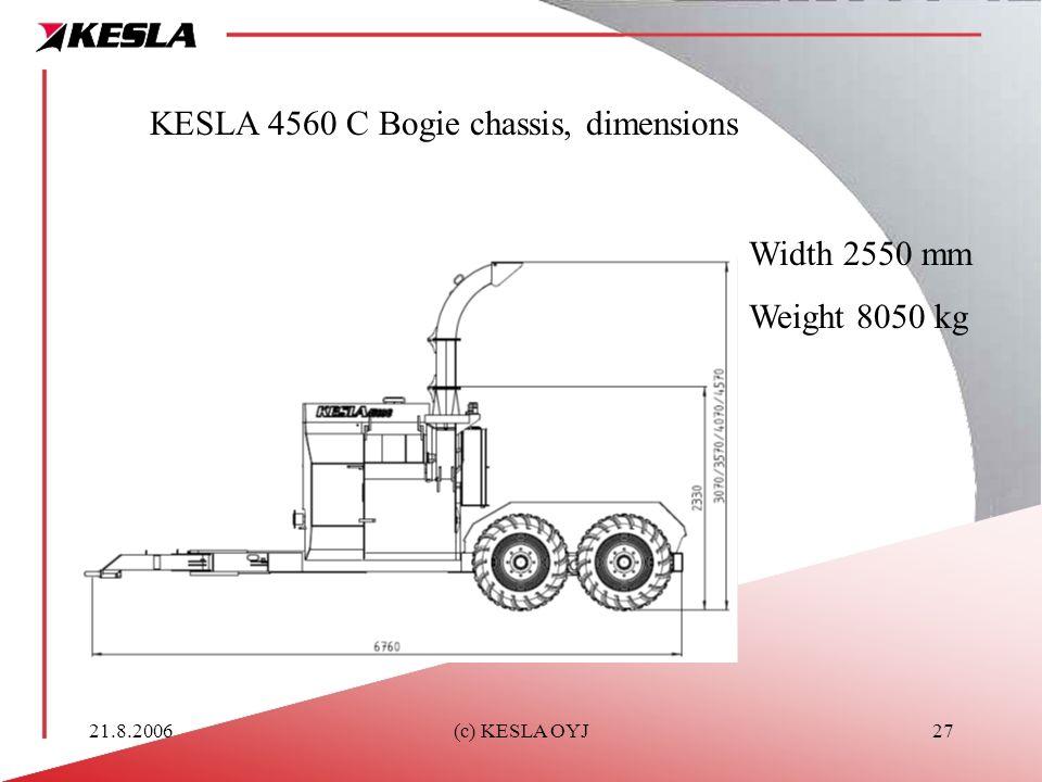 KESLA 4560 C Bogie chassis, dimensions