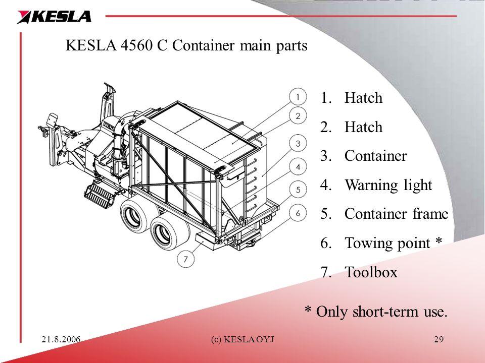 KESLA 4560 C Container main parts