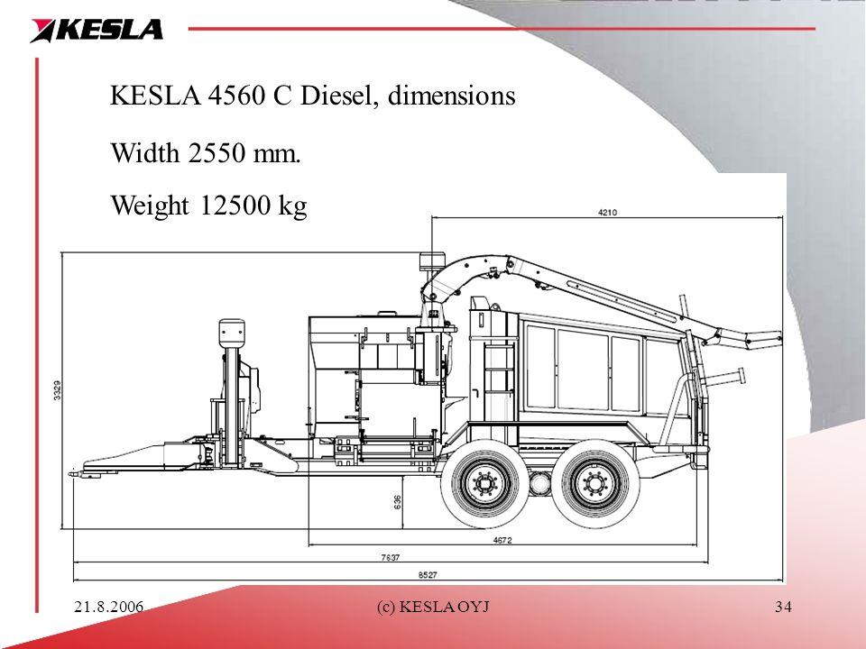 KESLA 4560 C Diesel, dimensions