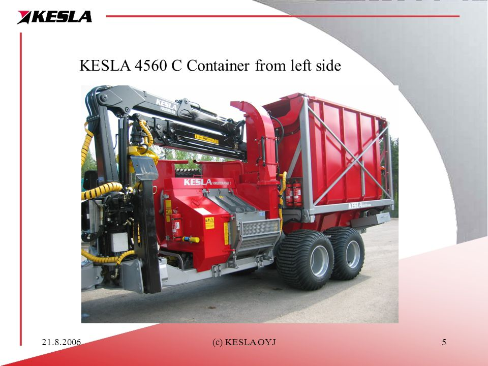 KESLA 4560 C Container from left side