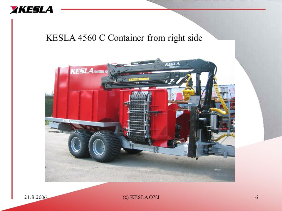KESLA 4560 C Container from right side