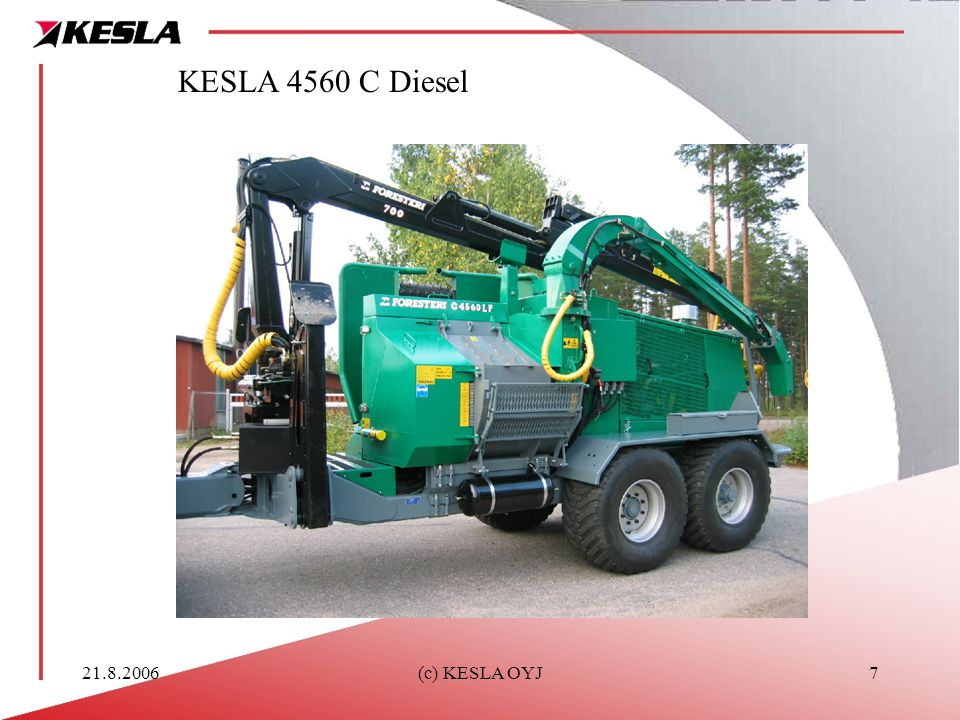 KESLA 4560 C Diesel 21.8.2006 (c) KESLA OYJ