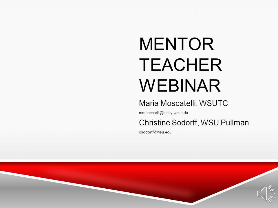 Mentor Teacher Webinar