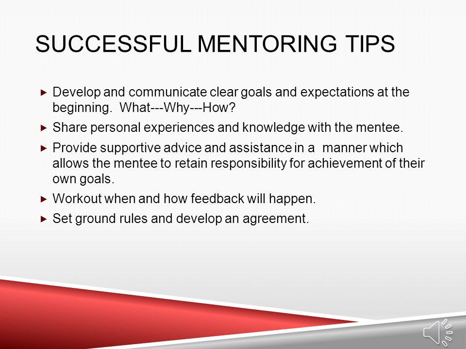 Successful Mentoring Tips