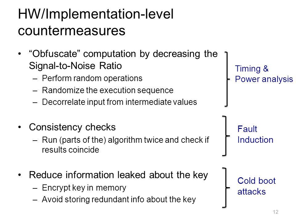 HW/Implementation-level countermeasures