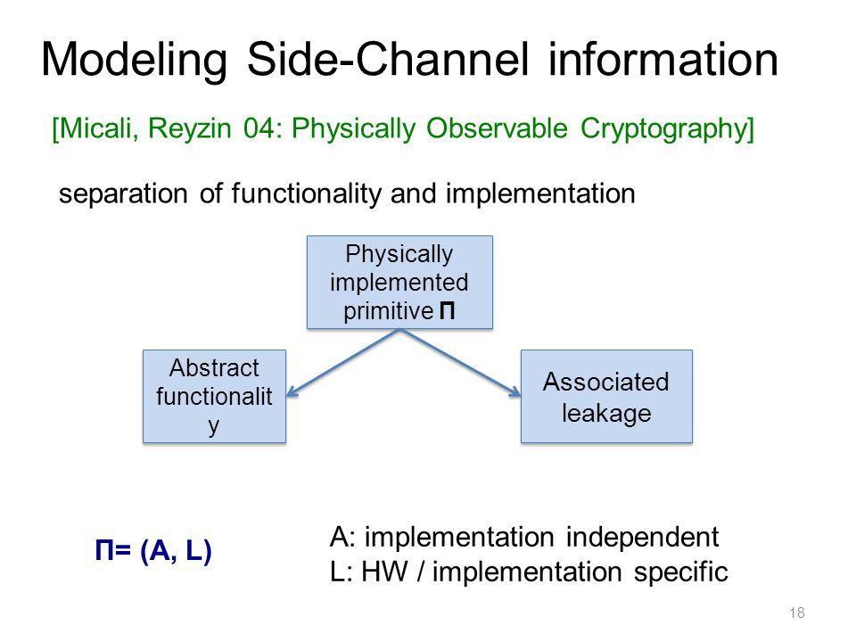 Modeling Side-Channel information