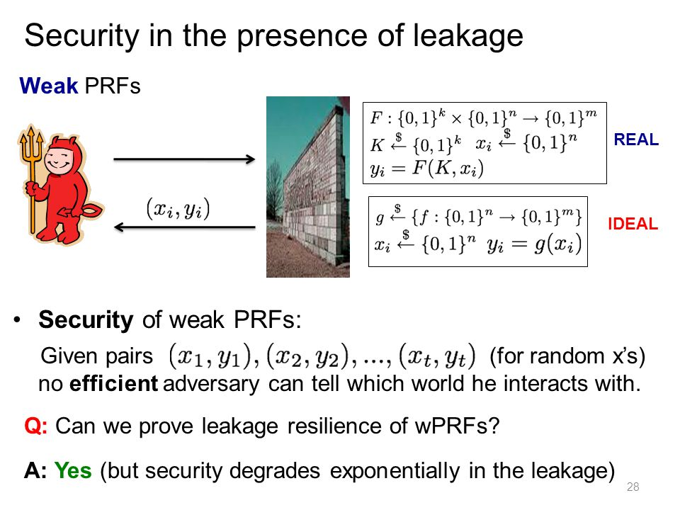 Security in the presence of leakage