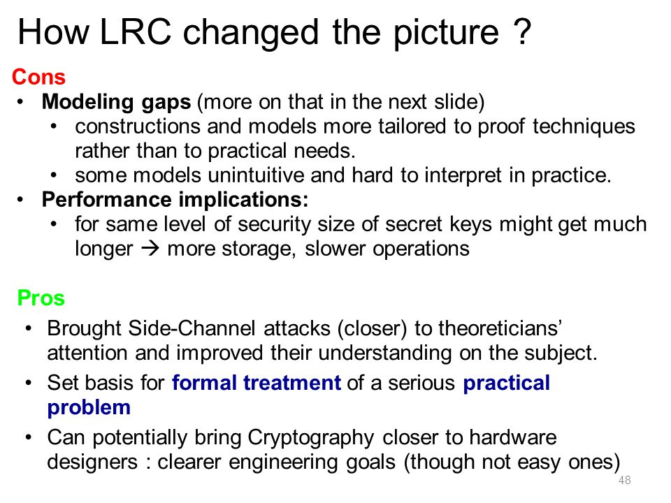 How LRC changed the picture