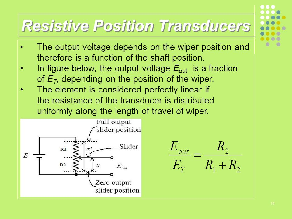 Resistive Position Transducers