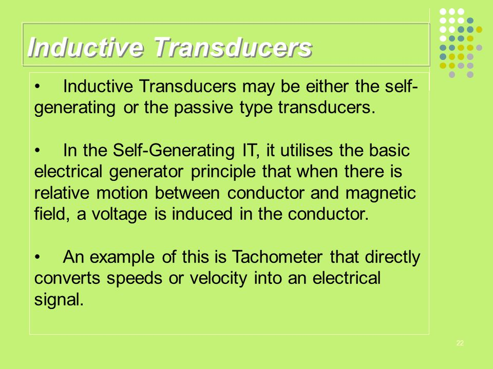 Inductive Transducers