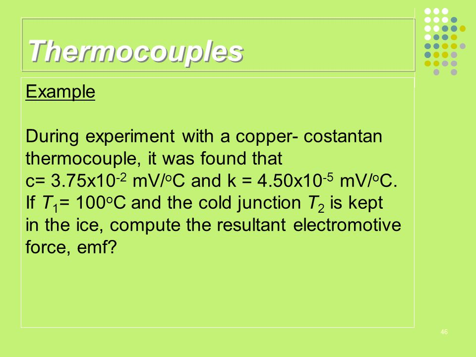 Thermocouples Example