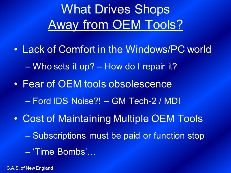 What Drives Shops Away from OEM Tools