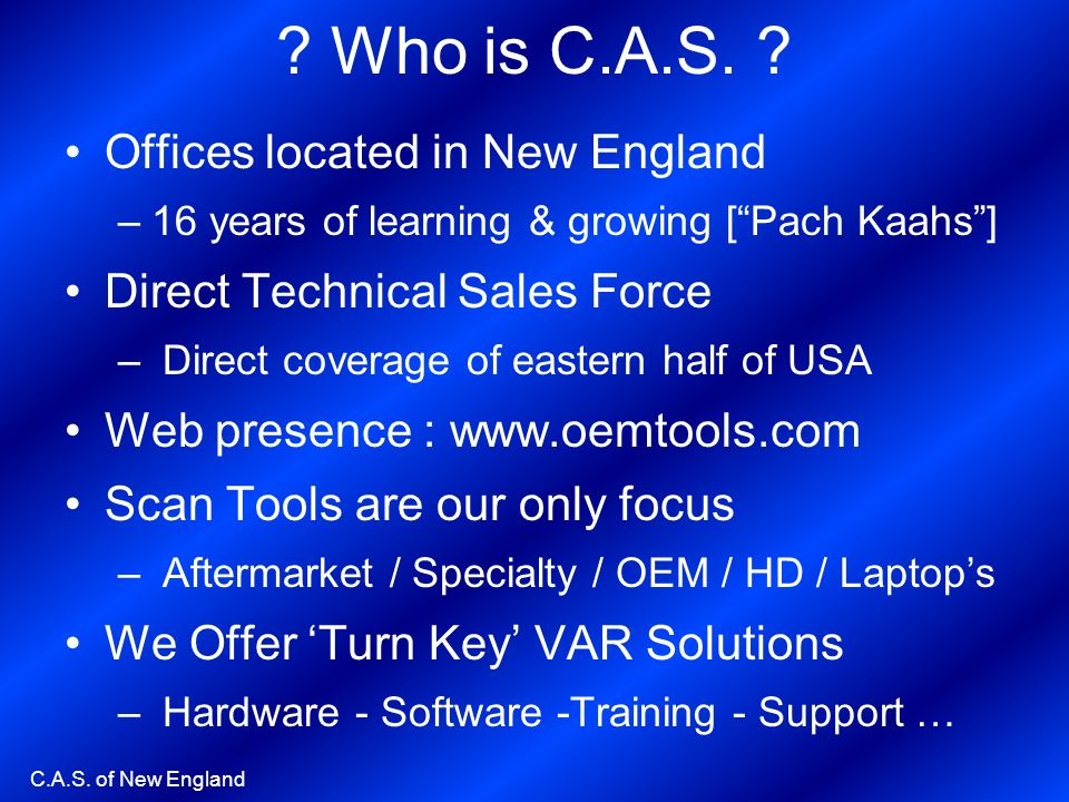 Who is C.A.S. Offices located in New England