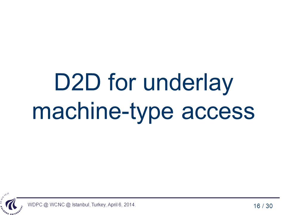 D2D for underlay machine-type access
