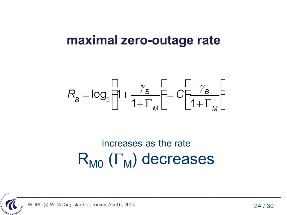 maximal zero-outage rate