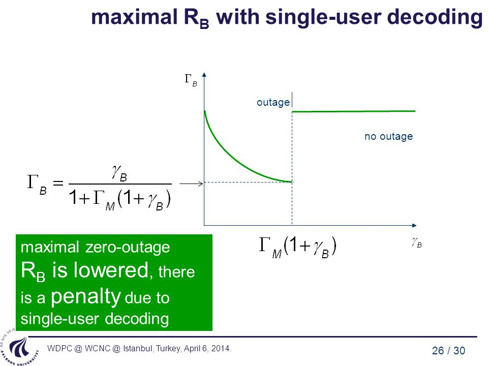 maximal RB with single-user decoding