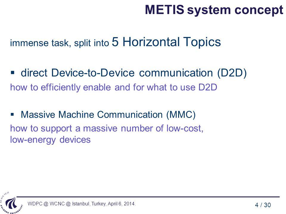 METIS system concept direct Device-to-Device communication (D2D)