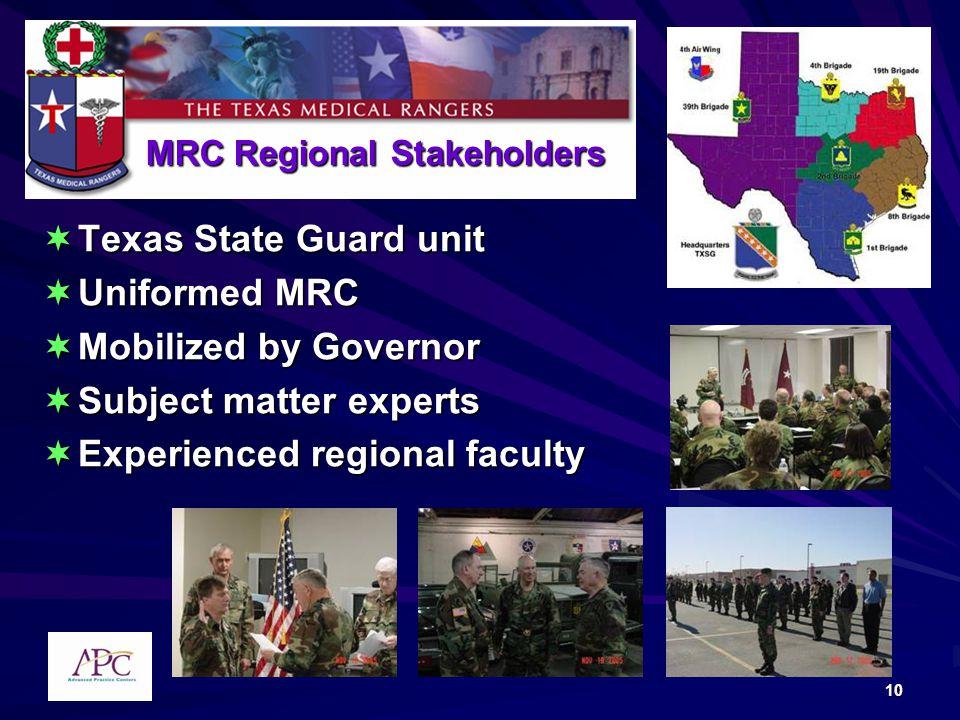 MRC Regional Stakeholders