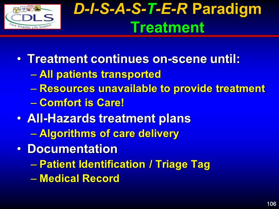 D-I-S-A-S-T-E-R Paradigm Treatment