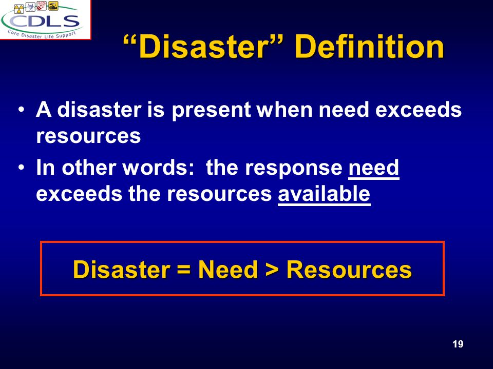 Disaster Definition
