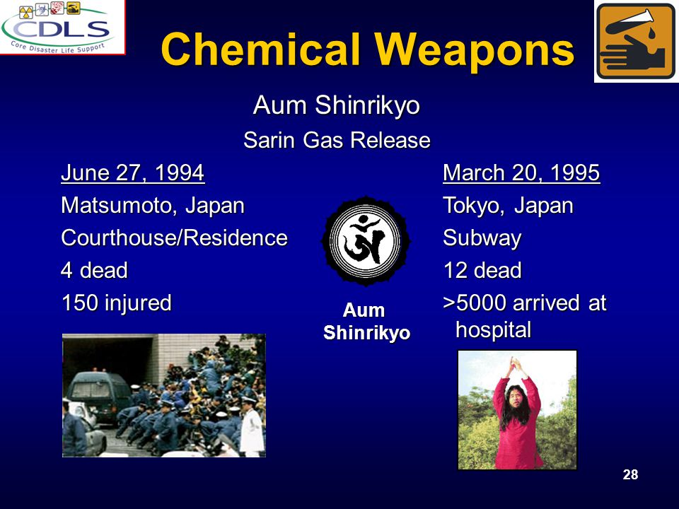 Chemical Weapons Aum Shinrikyo Sarin Gas Release
