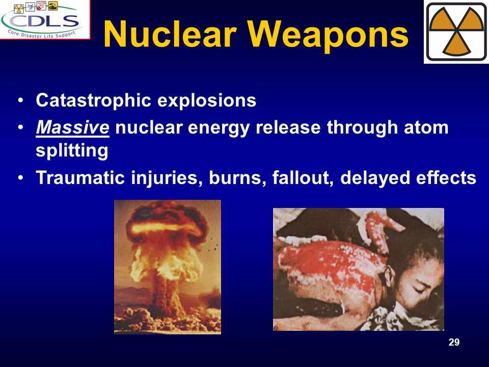 Nuclear Weapons Catastrophic explosions