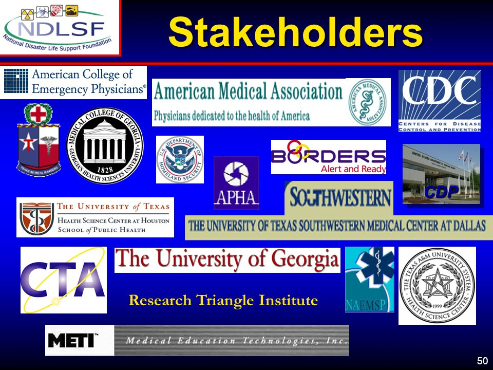 Stakeholders CDP Research Triangle Institute