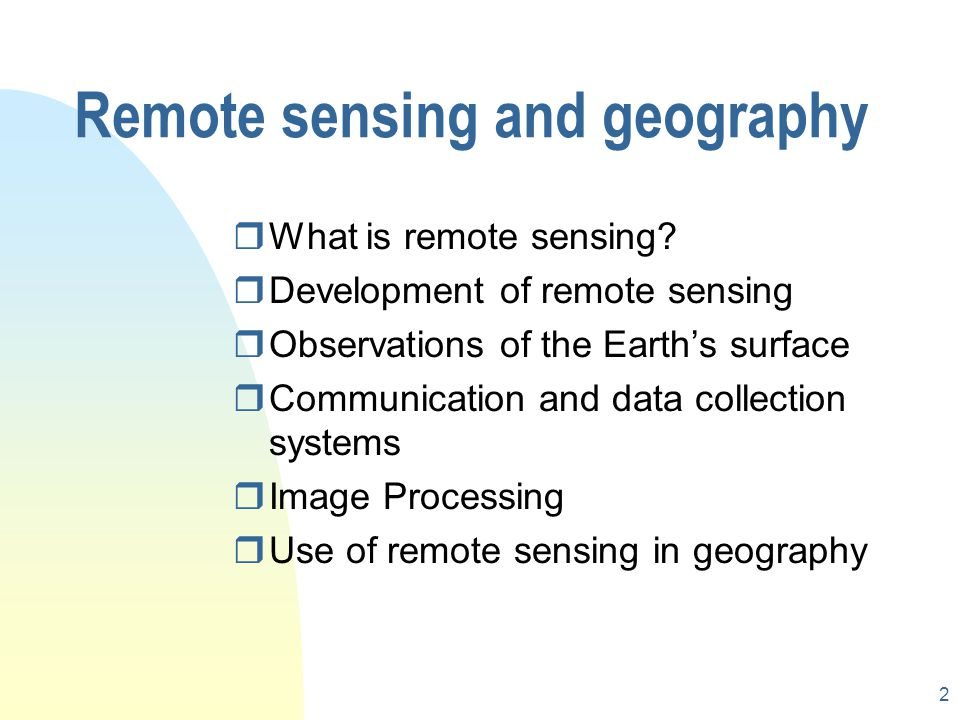 Remote sensing and geography