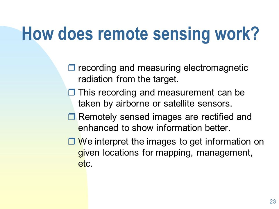 How does remote sensing work