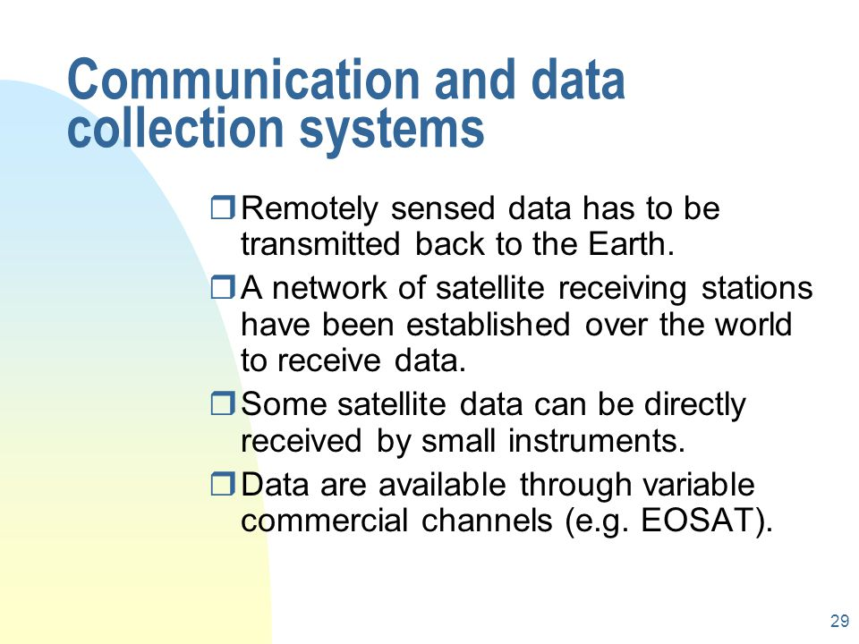 Communication and data collection systems