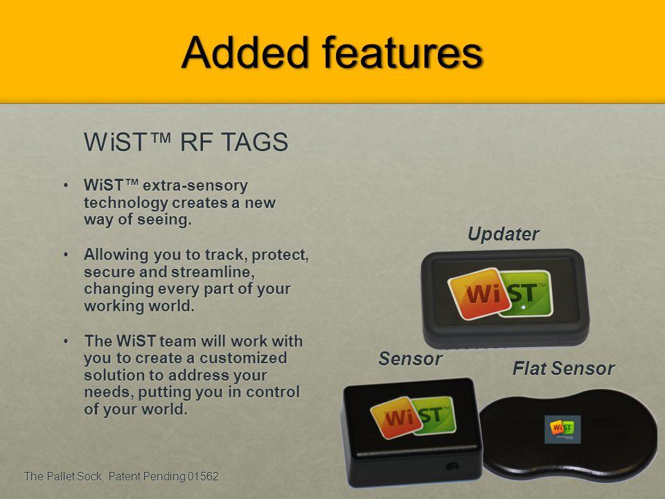 Added features WiST™ RF TAGS Updater Sensor Flat Sensor
