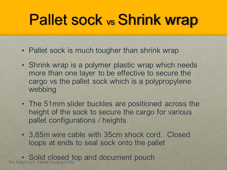 Pallet sock vs Shrink wrap