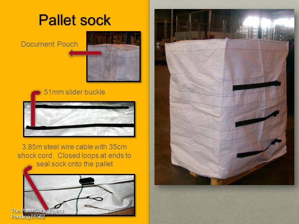 Pallet sock Document Pouch 51mm slider buckle