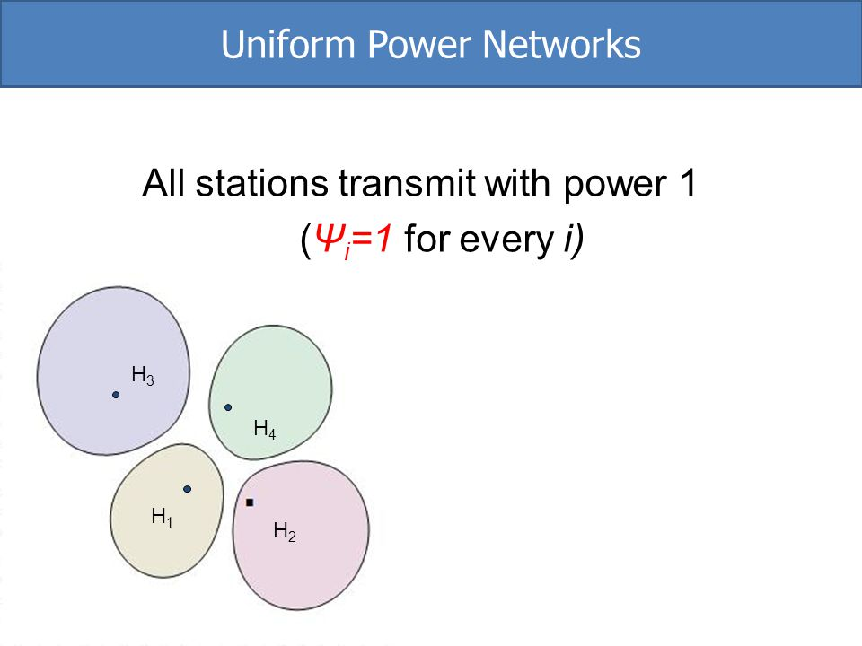 Uniform Power Networks