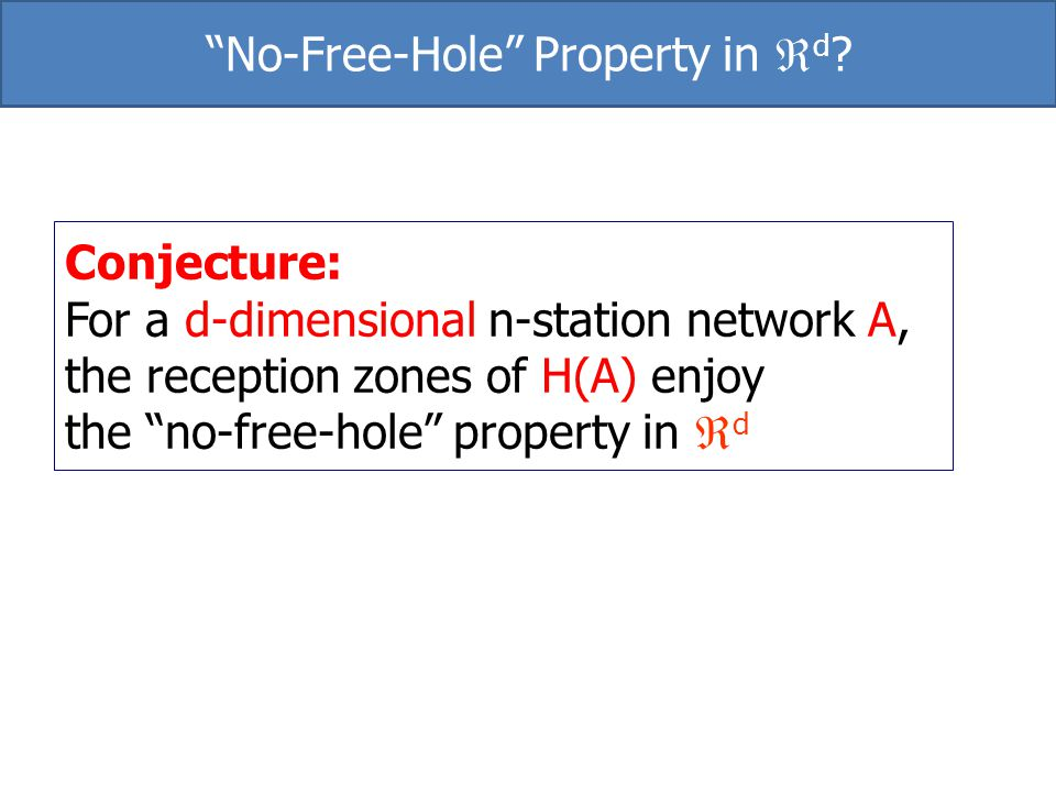 No-Free-Hole Property in d