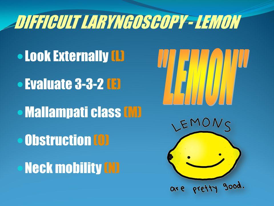 DIFFICULT LARYNGOSCOPY - LEMON